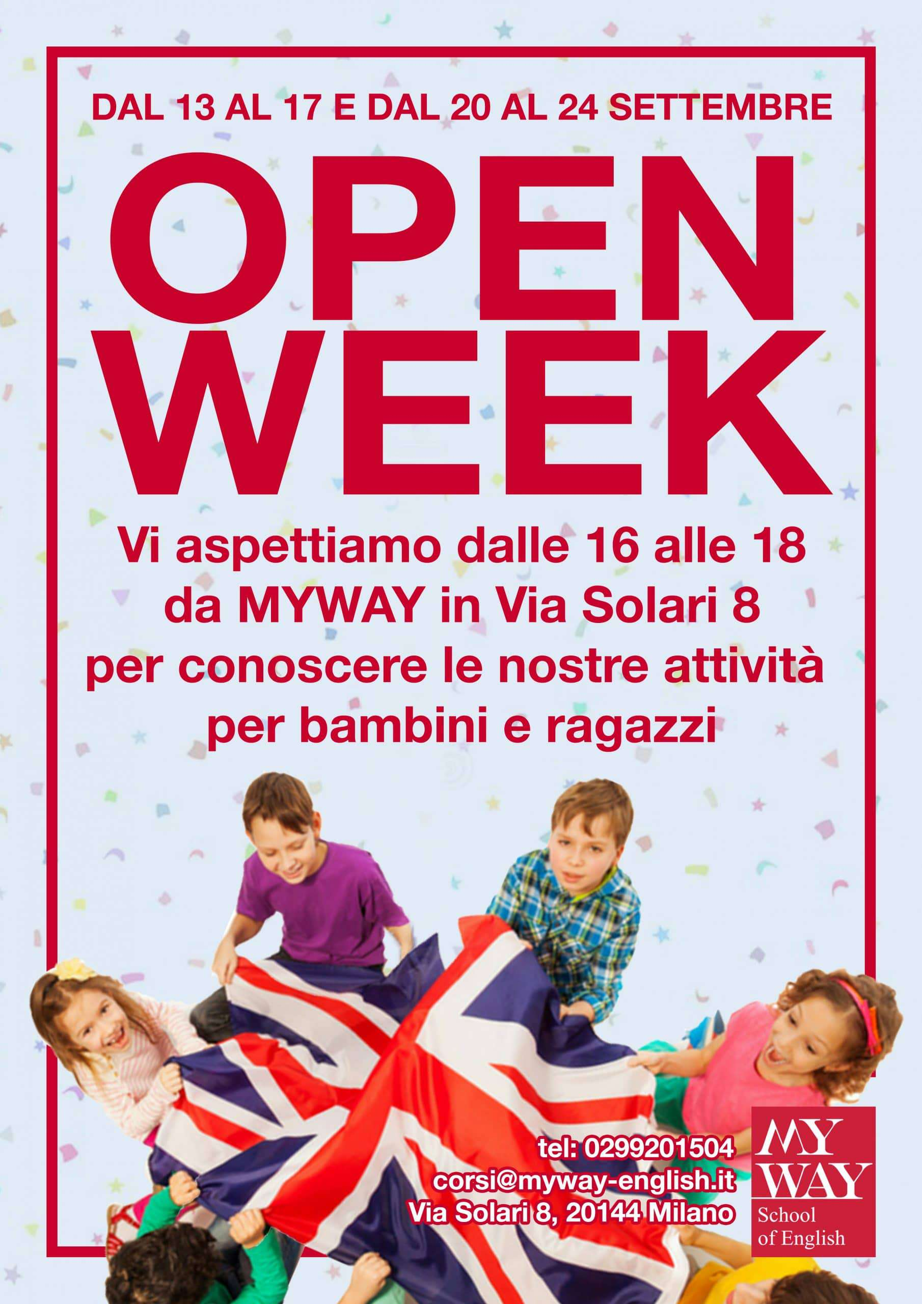 Open Week Volantino